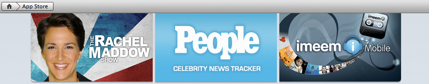 People Celebrity News Tracker promoted in iTunes App Store