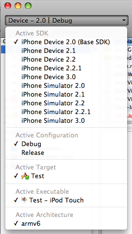 Xcode 3.1.3 Updated List of Active iPhone SDKs